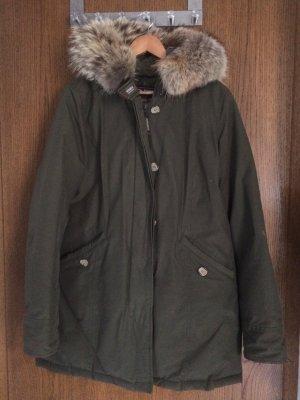 Woolrich Down Coat beige-khaki cotton