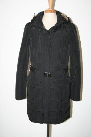 Woolrich Chaqueta de plumón negro tejido mezclado