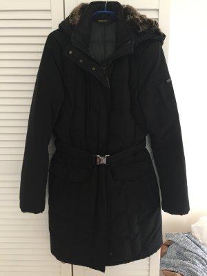 Woolrich Blizzard Parka in schwarz mit Fellkapuze Gr. L