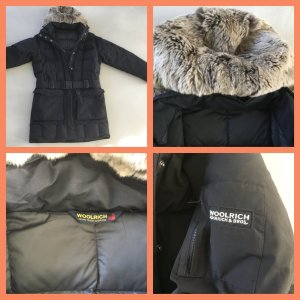 Woolrich Down Jacket black mixture fibre