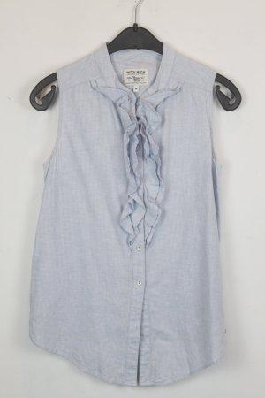 Woolrich Blouse sans manche bleu azur-blanc