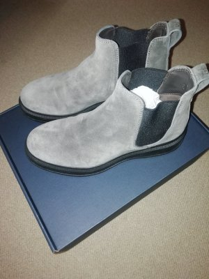 Woolrich Slip-on Booties grey leather