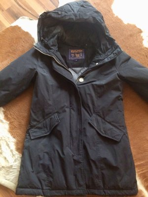 Woolrich Down Coat black synthetic fibre