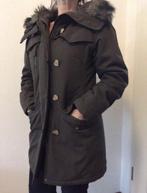 Woolrich Giacca invernale marrone-grigio-marrone chiaro