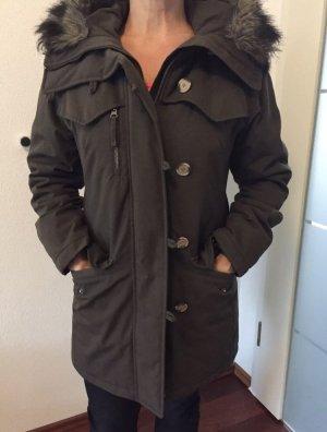 Woolrich Veste d'hiver gris brun-marron clair