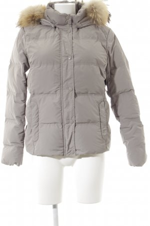 Woolrich Down Jacket light grey quilting pattern street-fashion look