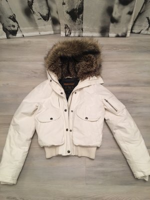 Woolrich Down Jacket natural white mixture fibre