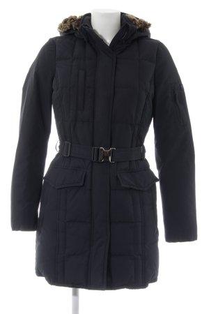 Woolrich Abrigo de plumón azul oscuro Aplicación del logotipo