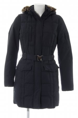 Woolrich Manteau en duvet bleu foncé Application de logo