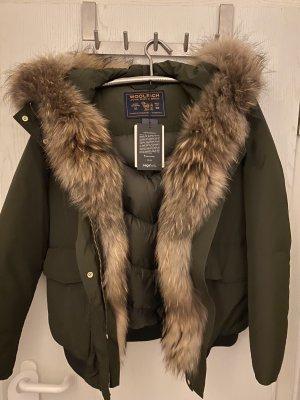 Woolrich Down Jacket khaki