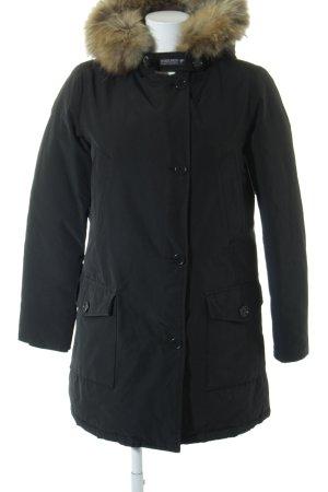 Woolrich Fur Jacket black classic style
