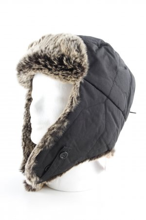 Woolrich Chapeau en fourrure noir style décontracté