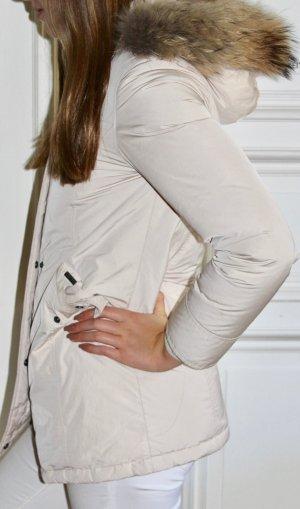 Woolrich Girl Luxury Arctic Parka Fell Gr. 14 bzw. 34 XS puderfarben / helles Beige