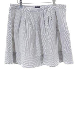 Woolrich Jupe évasée blanc-bleu foncé motif rayé Application de logo