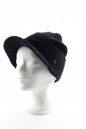 Woolrich Cappello all'uncinetto nero stile casual