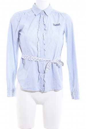 Woolrich Shirt Blouse blue-white striped pattern business style