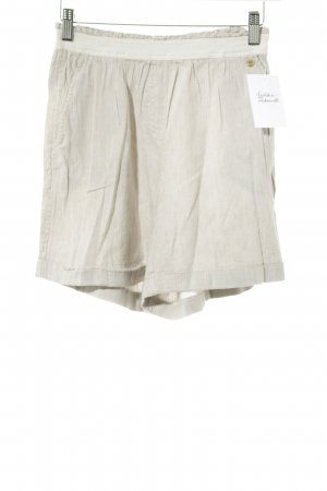 Woolrich High-Waist-Shorts oatmeal striped pattern casual look