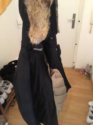 Woolrich Doudoune noir-marron clair
