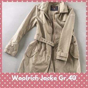 Woolrich Veste longue beige clair-chameau tissu mixte
