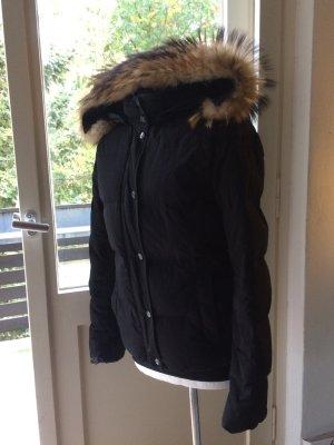 Woolrich Giacca invernale nero-bronzo Pelliccia