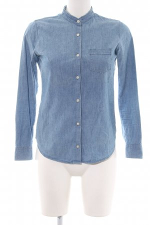 Woolrich Chemise en jean bleu style décontracté