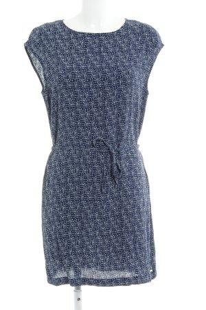 Woolrich Caftán azul oscuro-blanco estampado con diseño abstracto look casual