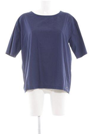 Woolrich Kurzarm-Bluse blau Casual-Look
