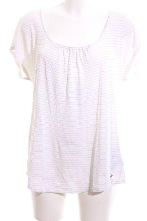 Woolrich Blouse à manches courtes blanc motif rayé style décontracté