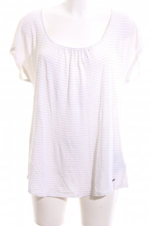 Woolrich Blouse met korte mouwen wit gestreept patroon casual uitstraling