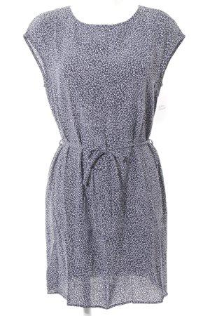 Woolrich Robe à manches courtes bleu foncé-blanc motif abstrait