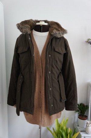 Woolrich Veste en fourrure brun foncé