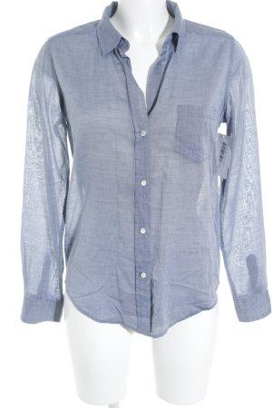 Woolrich Langarm-Bluse stahlblau Business-Look