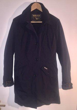 Woolrich Lange Jacke dunkelblau Casula-Look