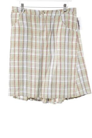 Woolrich Falda de lino estampado a cuadros look casual