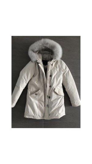 Woolrich Luxury Arctic Parka Creme Weiß Fell Pelz Daunen Top