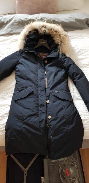 Woolrich Down Coat dark blue-blue