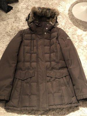 Woolrich Cappotto con cappuccio marrone