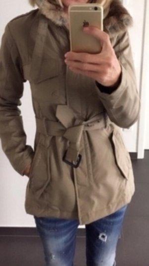 Woolrich Cappotto corto marrone-grigio-crema