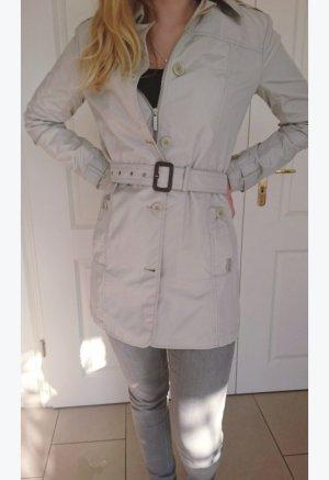 Woolrich Mantel Jacke Creme Beige Gürtel S