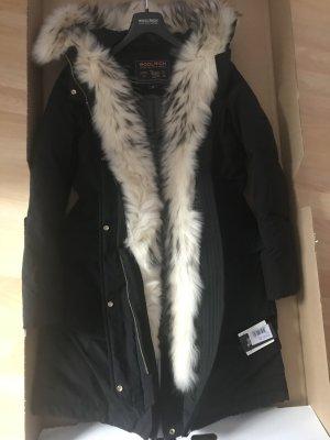 Woolrich Down Coat multicolored fur