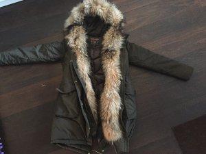 Woolrich Abrigo de plumón gris verdoso