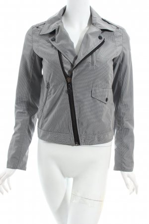 Woolrich Outdoor Jacket white-black check pattern athletic style