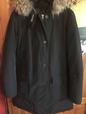 Woolrich Doudoune noir fourrure