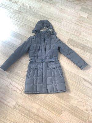 Woolrich Abrigo de plumón marrón tejido mezclado