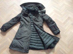 Woolrich Manteau en duvet gris vert tissu mixte