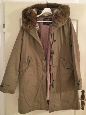 Woolrich Chaqueta de invierno marrón claro tejido mezclado