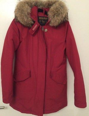 Woolrich Manteau d'hiver rouge-rouge brique pelage