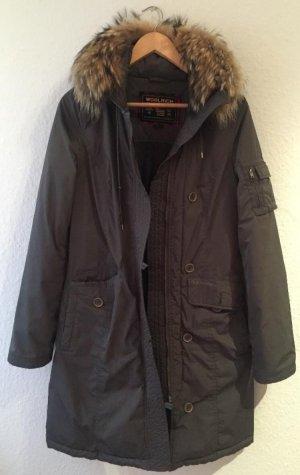Woolrich Manteau en duvet argenté-gris vert