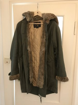 Woolrich Parka gris vert-marron clair