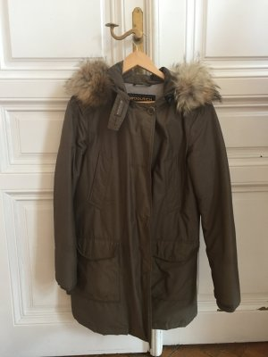 Woolrich Down Jacket grey brown-green grey fur